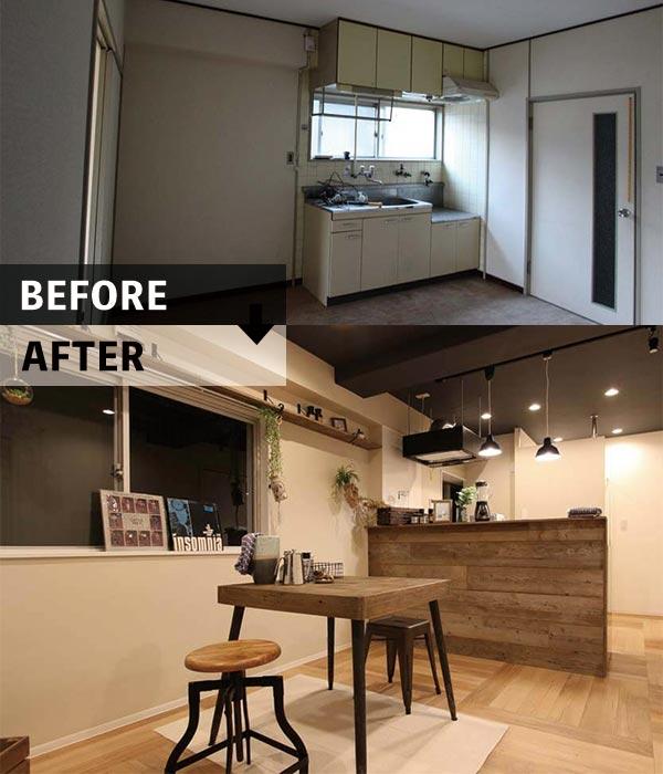 さんらいずの空室改善リノベーションビフォアアフター